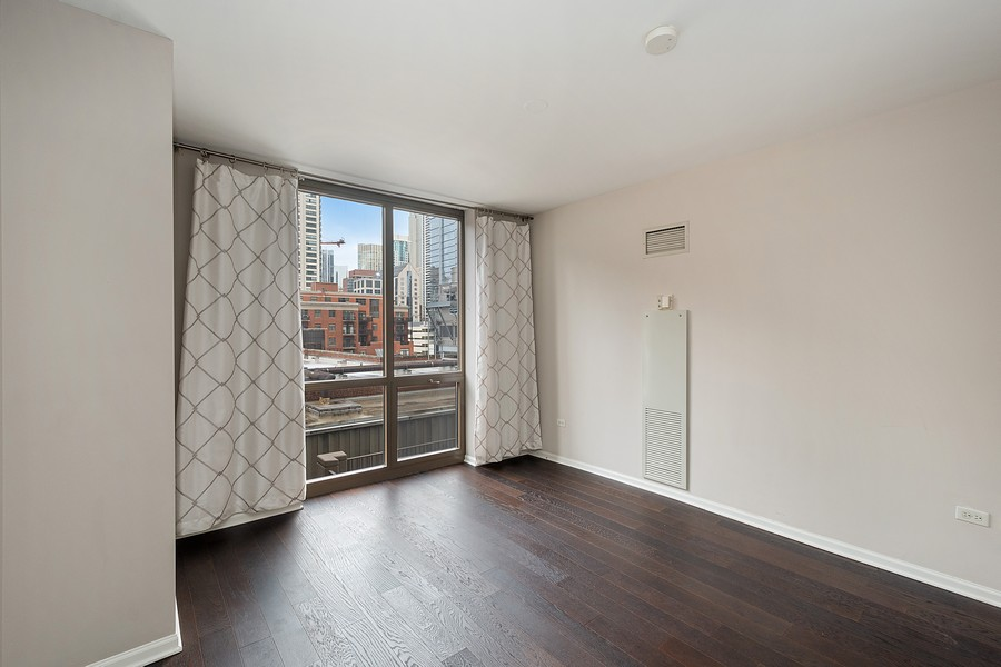 Real Estate Photography - 635 N Dearborn, Unit 803, Chicago, IL, 60654 - Master Bedroom