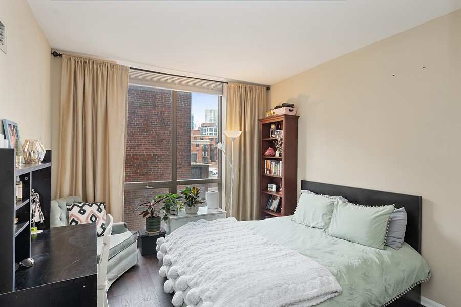 Real Estate Photography - 635 N Dearborn, Unit 803, Chicago, IL, 60654 - Bedroom