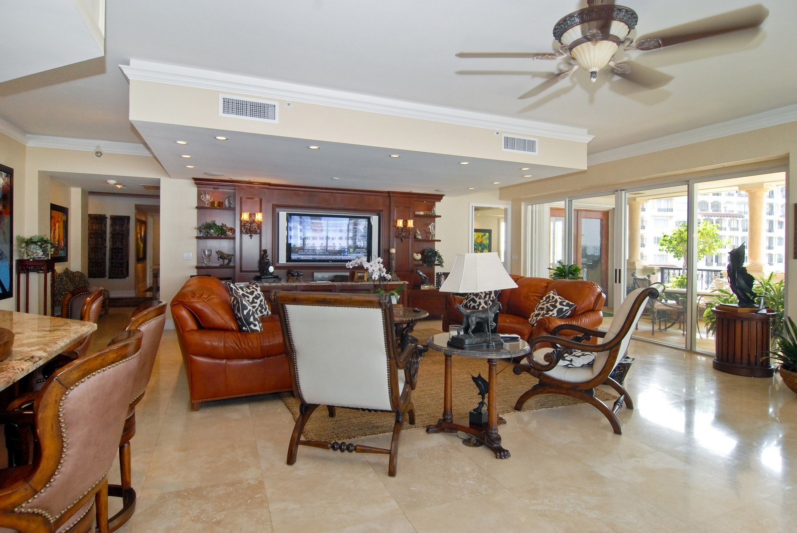 Real Estate Photography - 7251 Fisher Island Dr, Fisher Island, FL, 33109 - Living Room