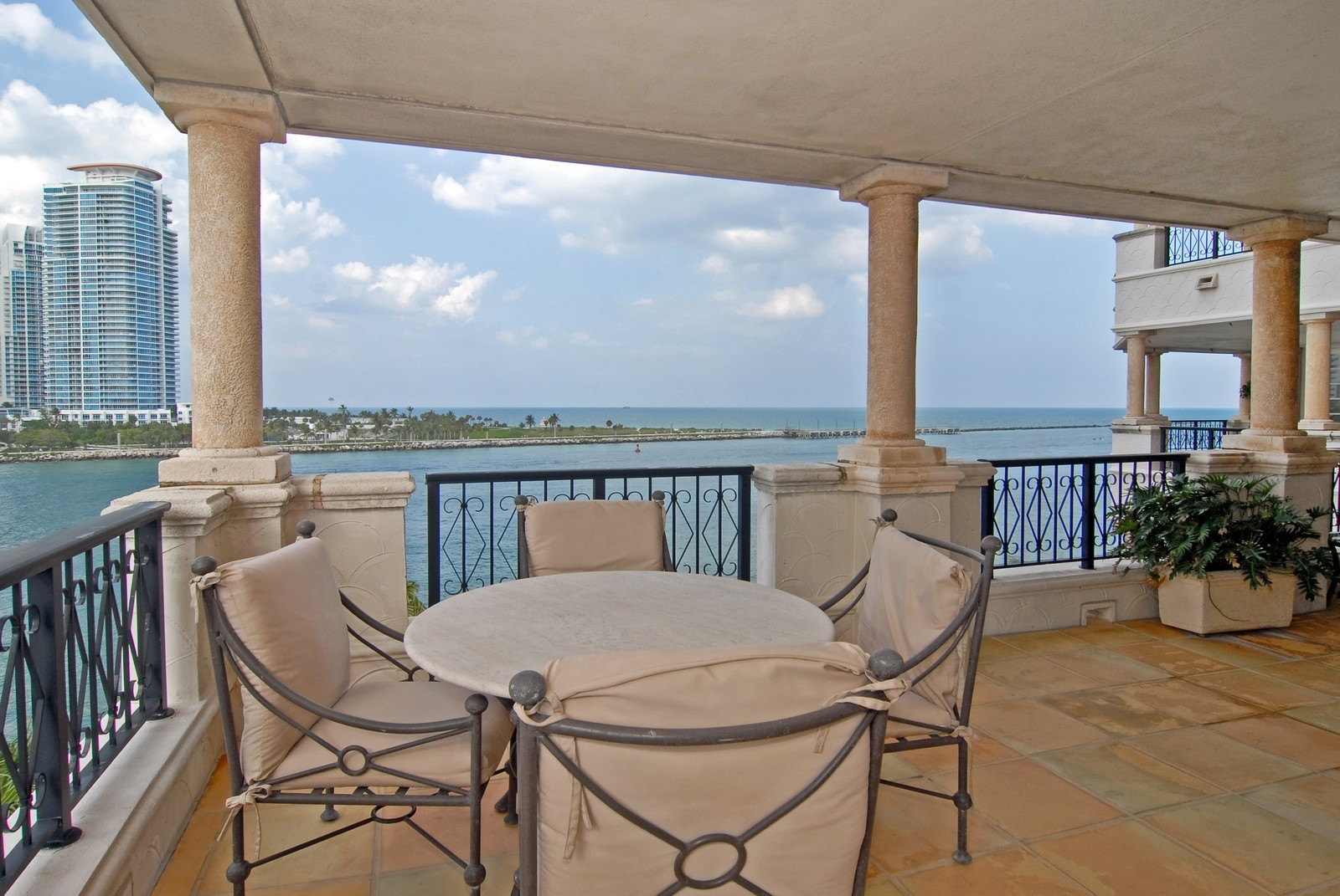 Real Estate Photography - 7251 Fisher Island Dr, Fisher Island, FL, 33109 - Terrace