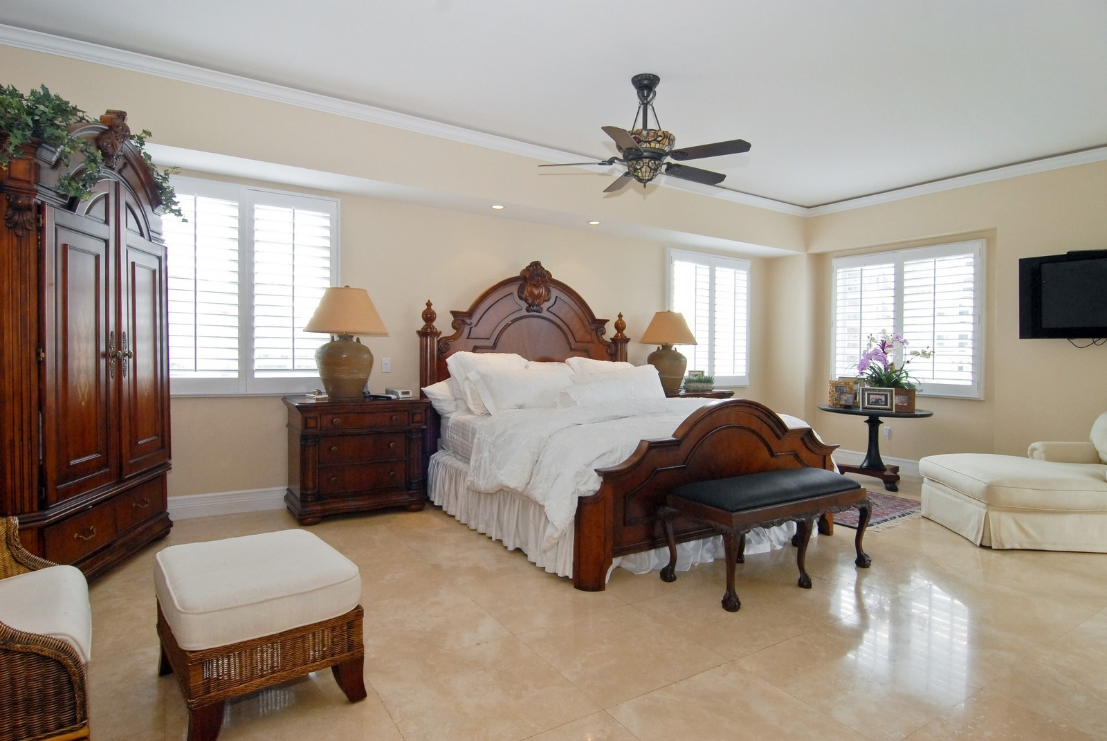 Real Estate Photography - 7251 Fisher Island Dr, Fisher Island, FL, 33109 - Master Bedroom