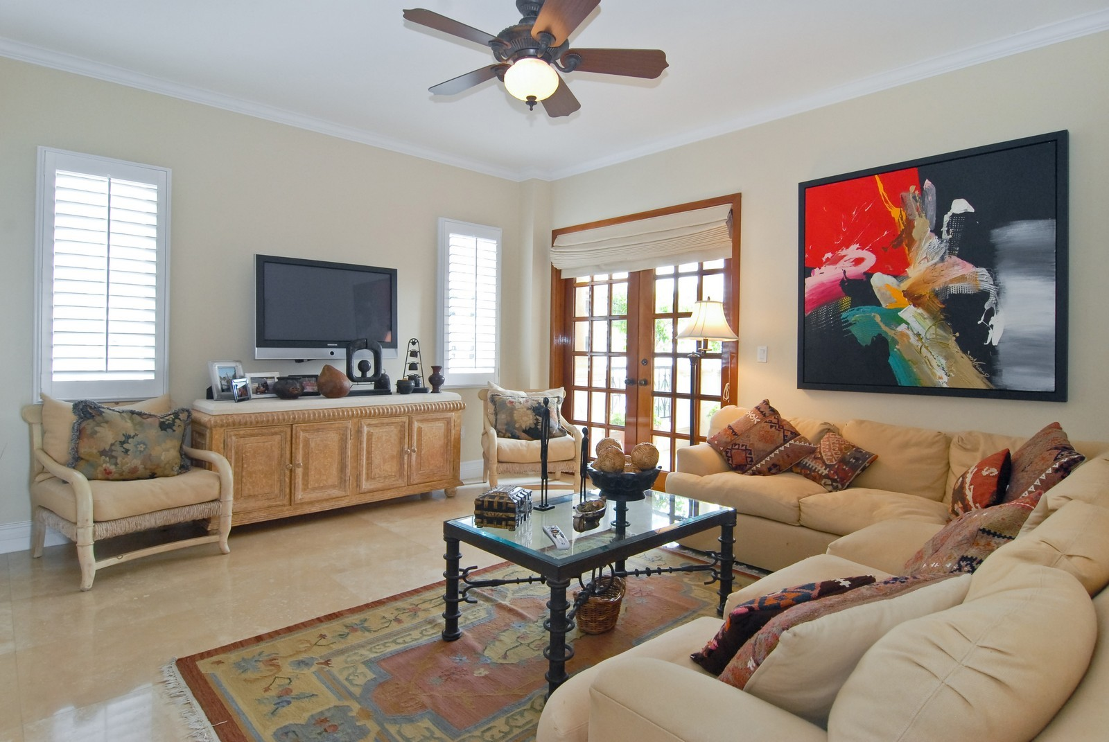 Real Estate Photography - 7251 Fisher Island Dr, Fisher Island, FL, 33109 - Great Room