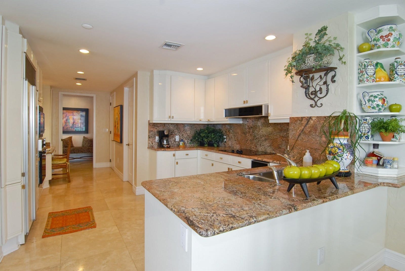Real Estate Photography - 7251 Fisher Island Dr, Fisher Island, FL, 33109 - Kitchen