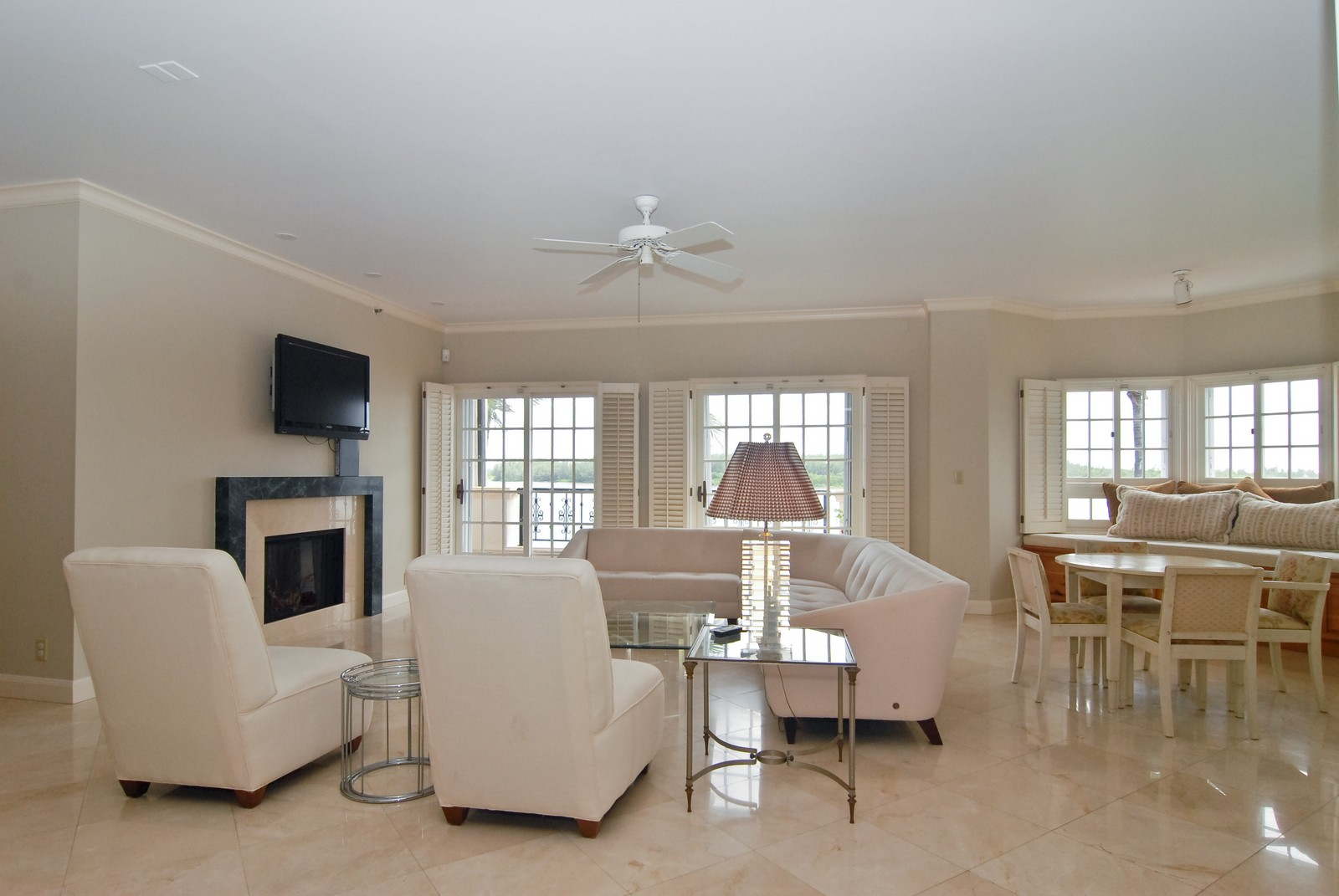 Real Estate Photography - 2426 Fisher Island Dr, Fisher Island, FL, 33109 - Living Room