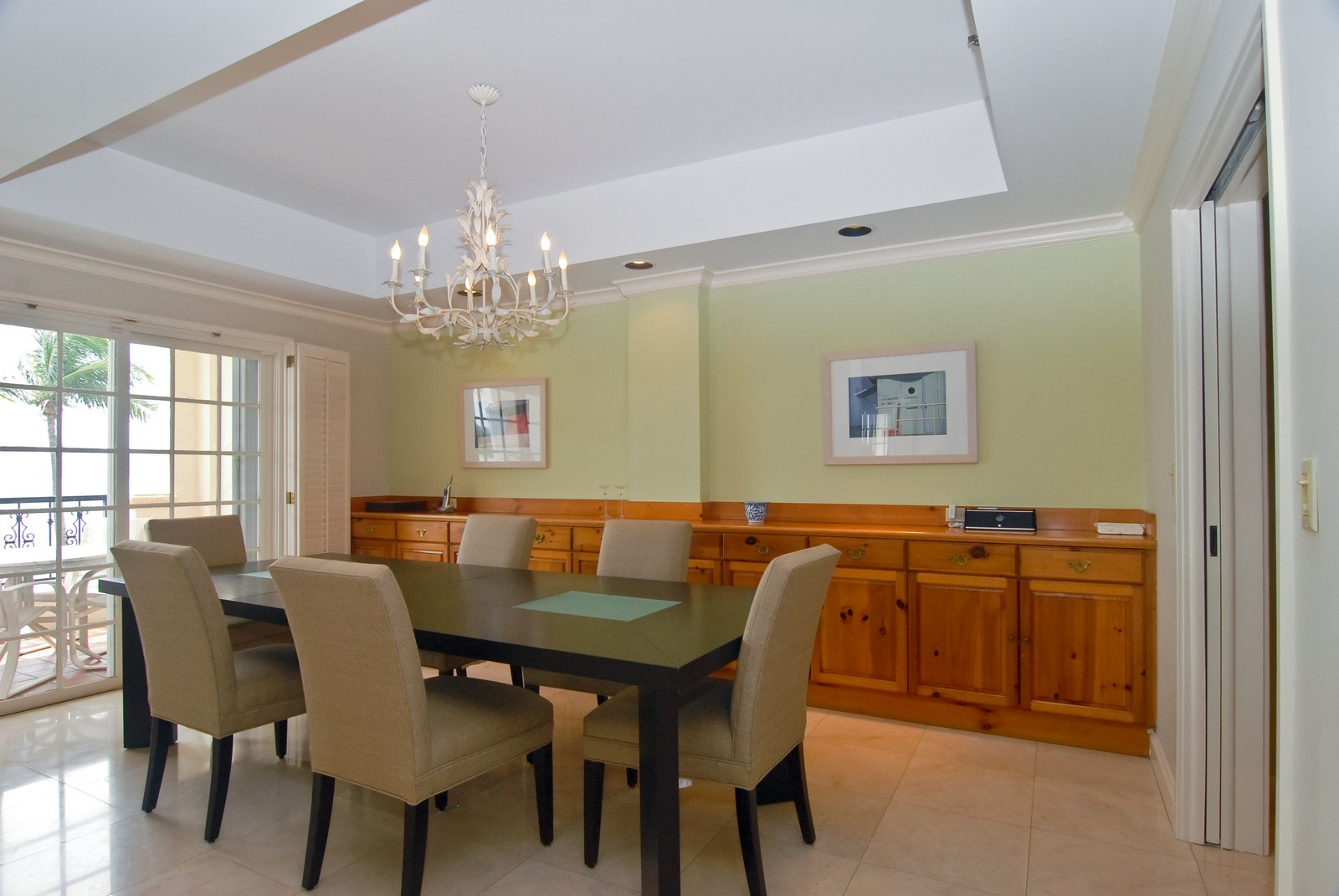Real Estate Photography - 2426 Fisher Island Dr, Fisher Island, FL, 33109 - Dining Room