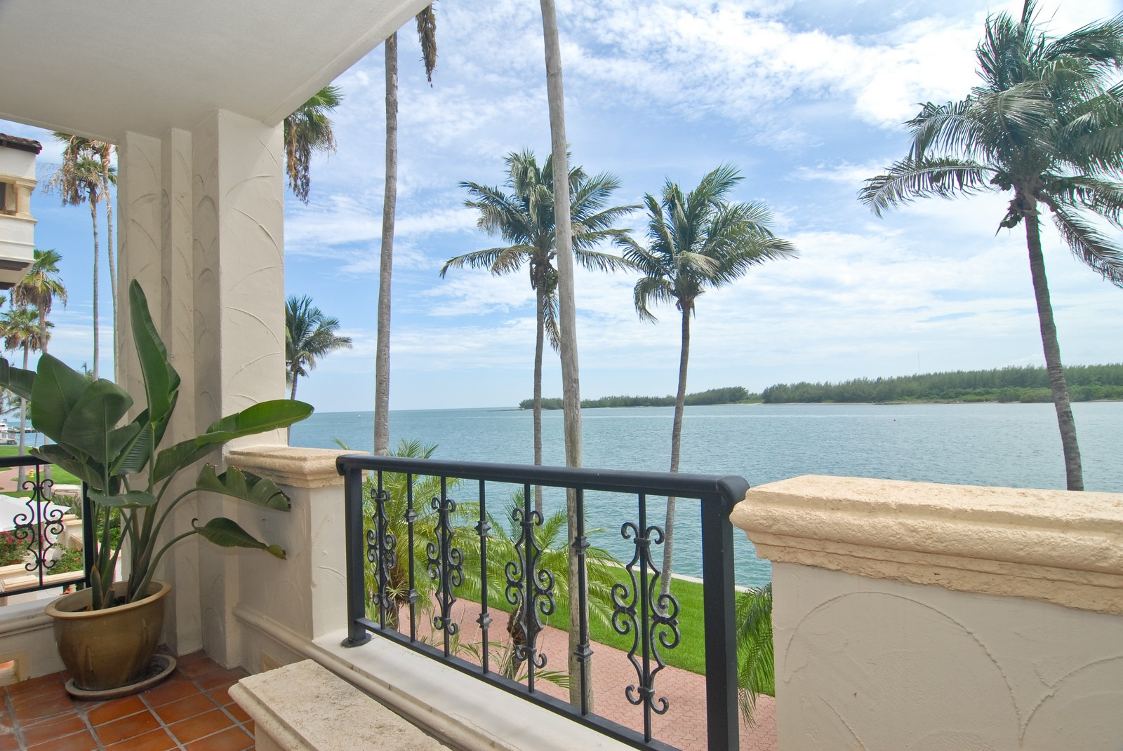 Real Estate Photography - 2426 Fisher Island Dr, Fisher Island, FL, 33109 - Balcony