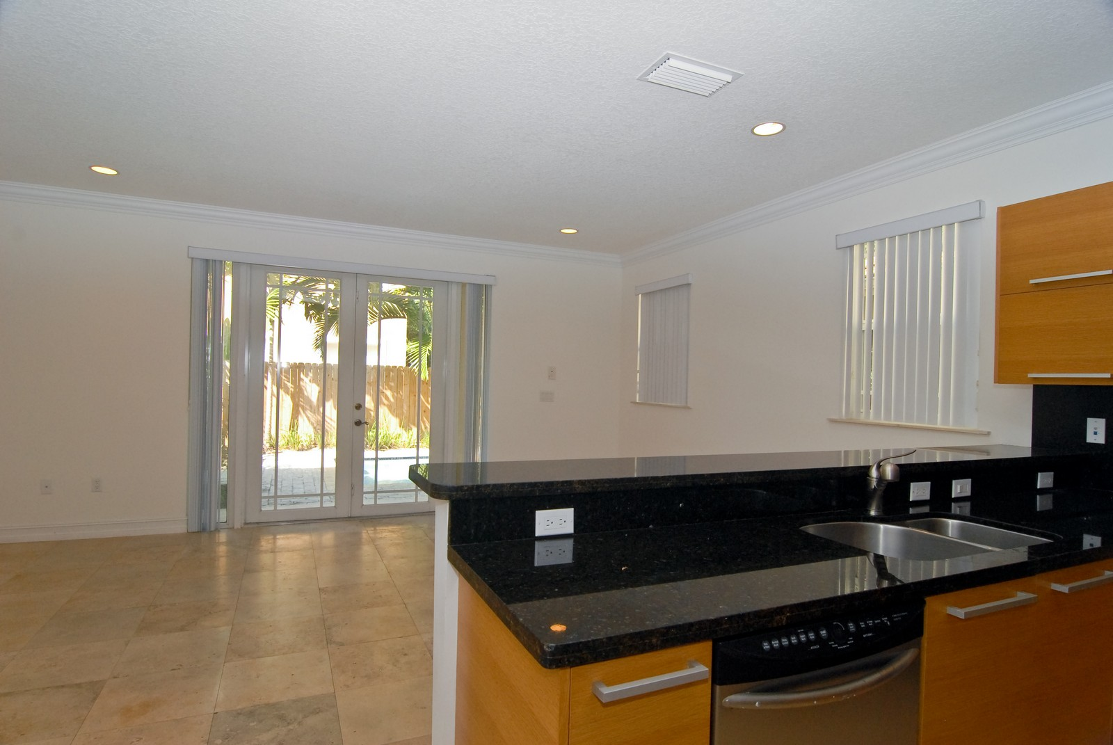 Real Estate Photography - 3034 Indiana St, Miami, FL, 33133 - Family Room / Kitchen