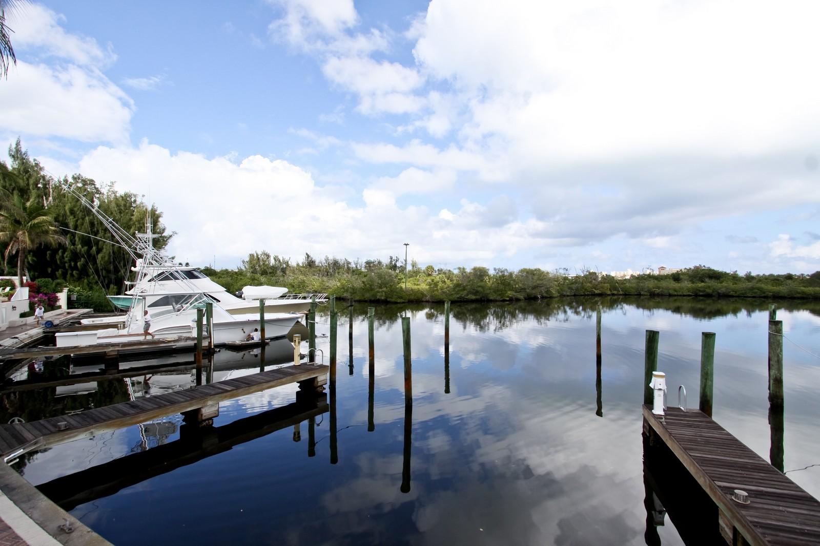 Real Estate Photography - 3527 Jonathans Harbour Dr, Jupiter, FL, 33477 - Dock