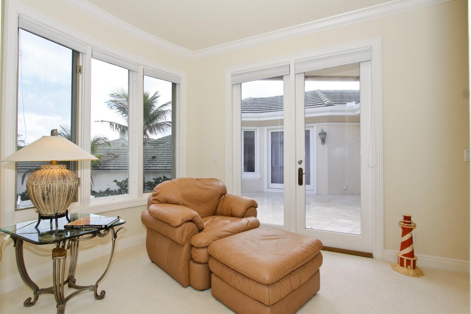 Real Estate Photography - 3527 Jonathans Harbour Dr, Jupiter, FL, 33477 - Master Bedroom Sitting Room