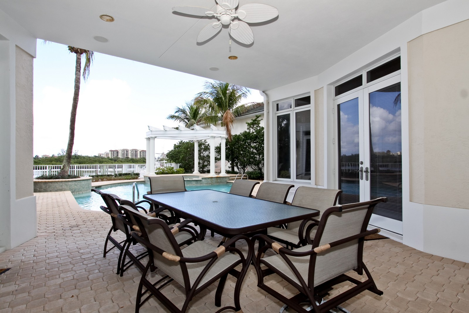 Real Estate Photography - 3527 Jonathans Harbour Dr, Jupiter, FL, 33477 - Patio