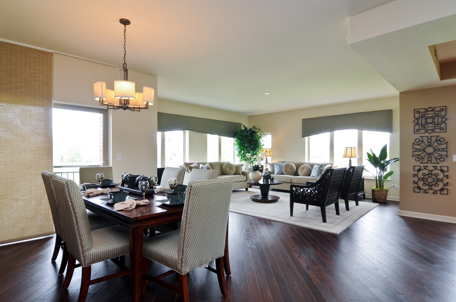 Real Estate Photography - 450 Village Green, Unit 216, Lincolnshire, IL, 60069 - Living Room / Dining Room