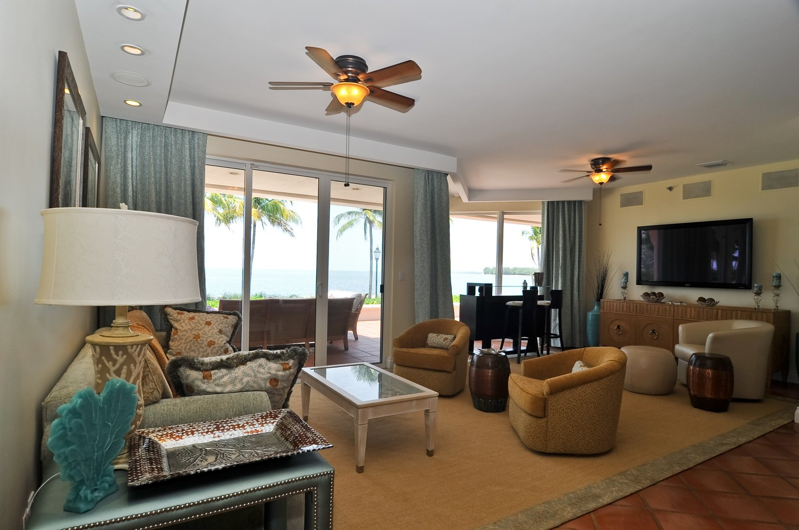Real Estate Photography - 15312 Fisher Island Dr, Fisher Island, FL, 33109 - Living Room