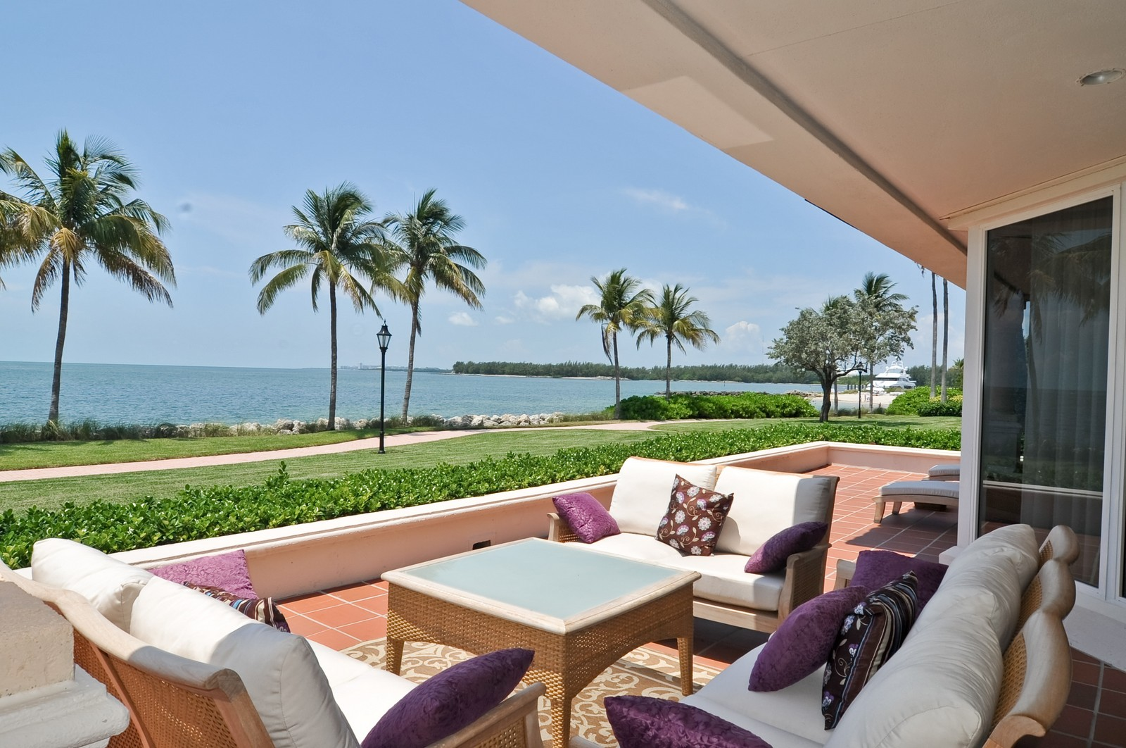 Real Estate Photography - 15312 Fisher Island Dr, Fisher Island, FL, 33109 - Terrace