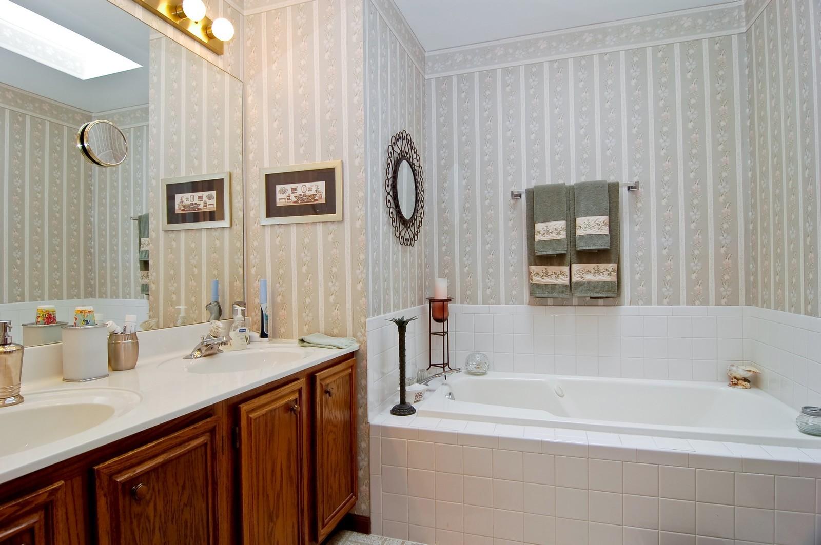 Real Estate Photography - 1013 Bedford, Carol Stream, IL, 60188 - Master Bathroom