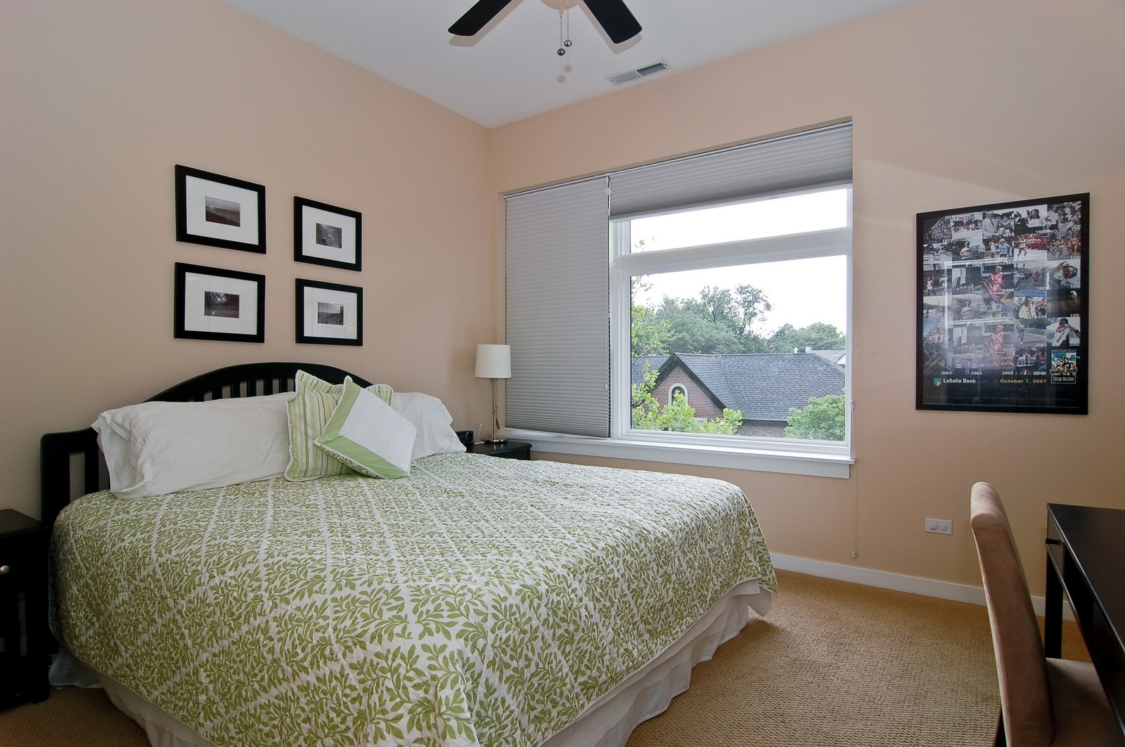 Real Estate Photography - 3741 N. Wolcott, Unit 13, Chicago, IL, 60613 - Master Bedroom