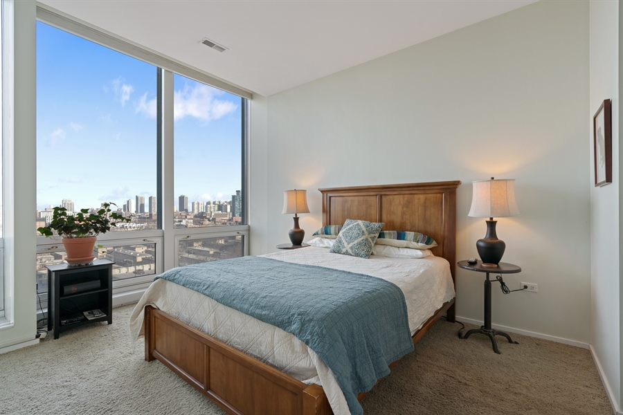 Real Estate Photography - 500 W Superior, 804, Chicago, IL, 60654 - Master Bedroom