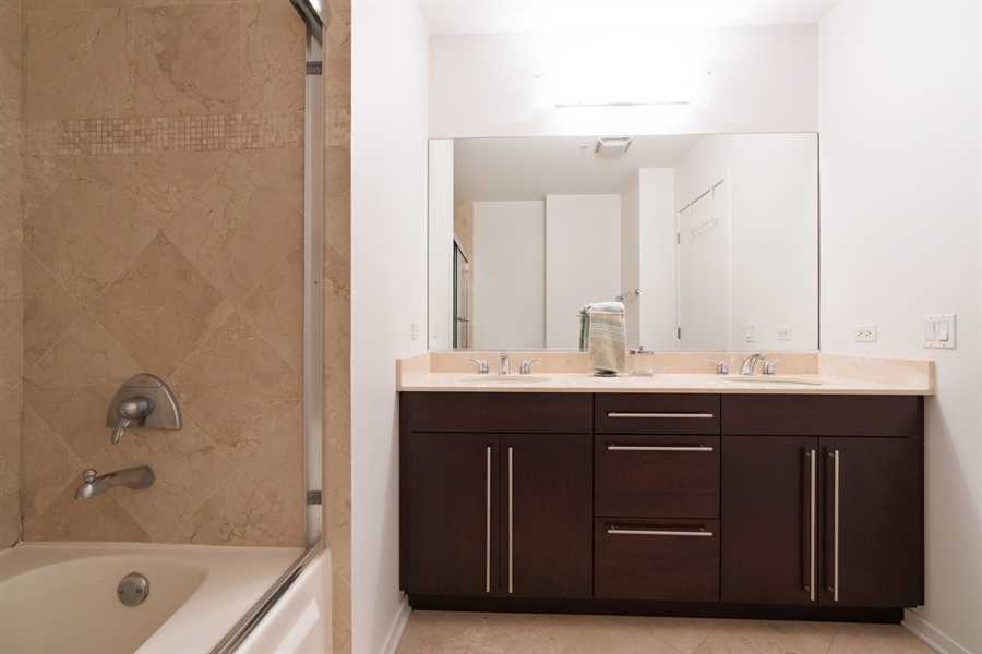 Real Estate Photography - 500 W Superior, 804, Chicago, IL, 60654 - Master Bathroom