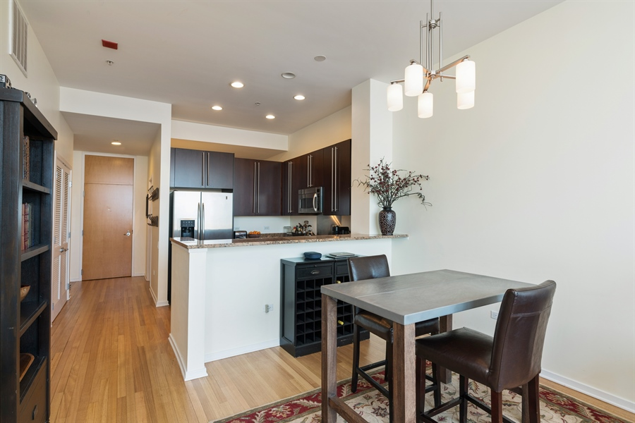 Real Estate Photography - 500 W Superior, 804, Chicago, IL, 60654 - Dining Area