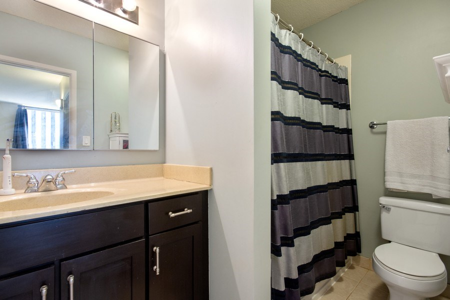 Real Estate Photography - 222 N Columbus, Unit 3102, Chicago, IL, 60601 - Master Bathroom