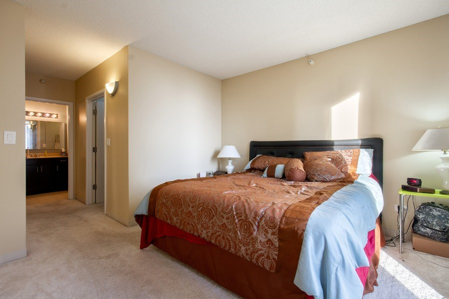 Real Estate Photography - 222 N Columbus, Unit 3102, Chicago, IL, 60601 - Master Bedroom