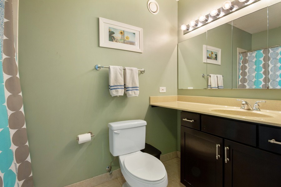 Real Estate Photography - 222 N Columbus, Unit 3102, Chicago, IL, 60601 - Bathroom