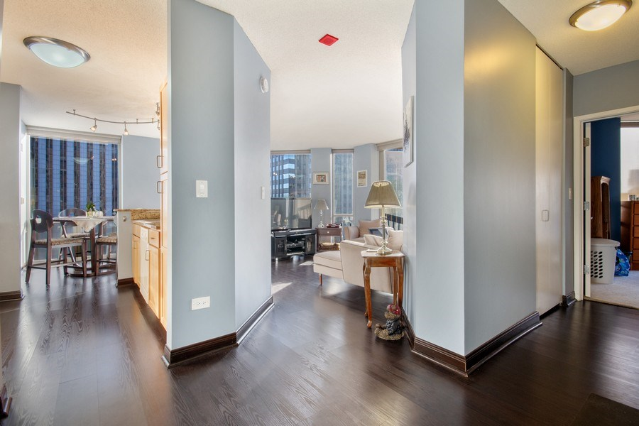 Real Estate Photography - 222 N Columbus, Unit 3102, Chicago, IL, 60601 - Entryway