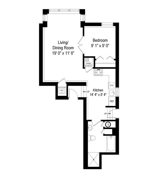 Real Estate Photography - 4104 N Mozart, GE, Chicago, IL, 60618 - Floor Plan