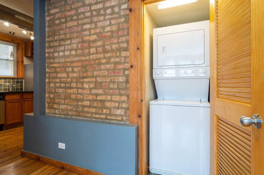 Real Estate Photography - 4104 N Mozart, GE, Chicago, IL, 60618 - Laundry Room