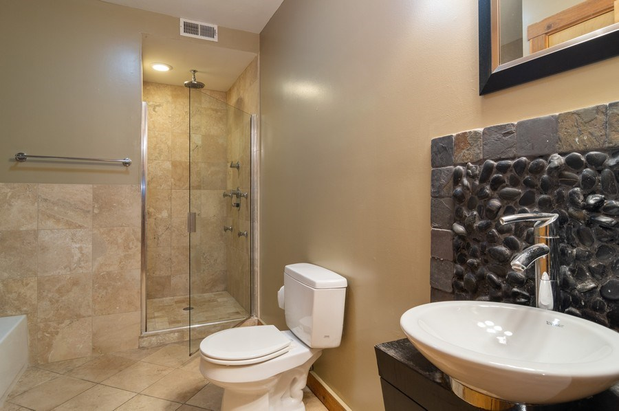 Real Estate Photography - 4104 N Mozart, GE, Chicago, IL, 60618 - Bathroom