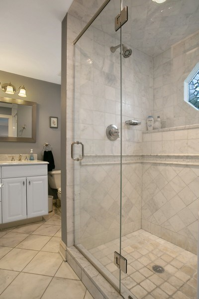 Real Estate Photography - 26 Rocky Brook Rd, Wilton, CT, 06897 - New Master Bathroom