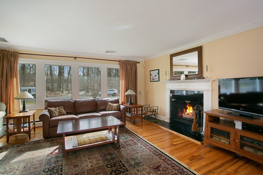 Real Estate Photography - 26 Rocky Brook Rd, Wilton, CT, 06897 - Living Room