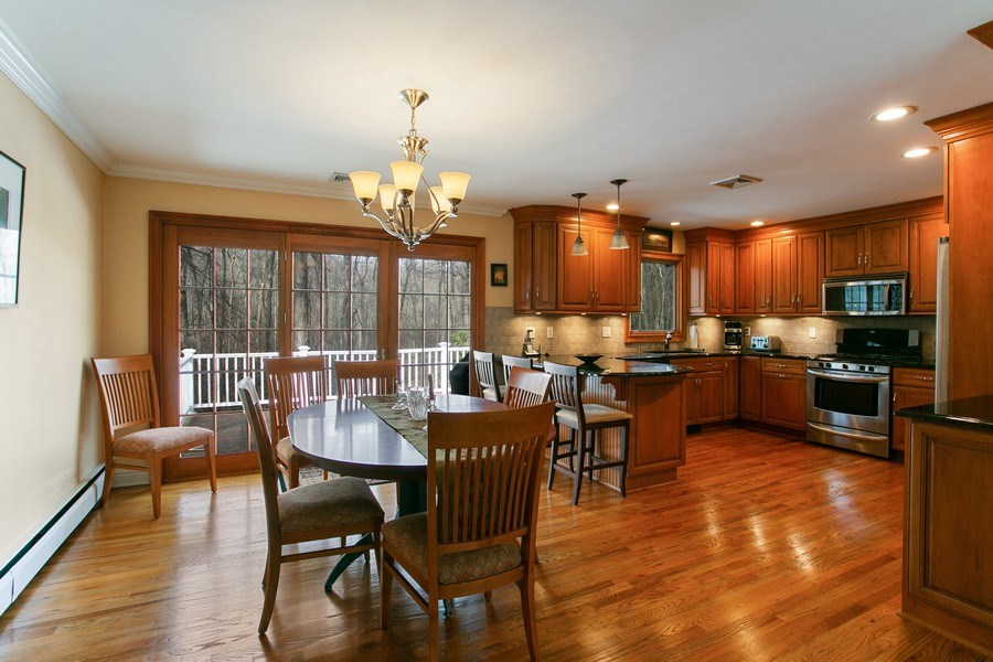 Real Estate Photography - 26 Rocky Brook Rd, Wilton, CT, 06897 - Dining Room