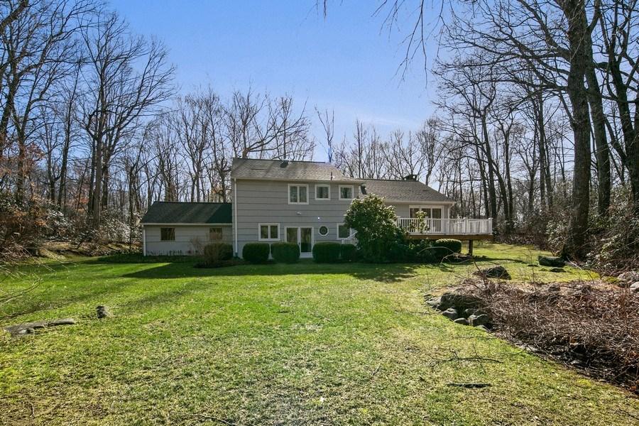Real Estate Photography - 26 Rocky Brook Rd, Wilton, CT, 06897 - Rear View