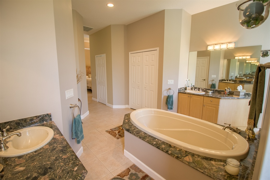 Real Estate Photography - 108 SW Lion Ln, Port Saint Lucie, FL, 34953 - Master Bathroom
