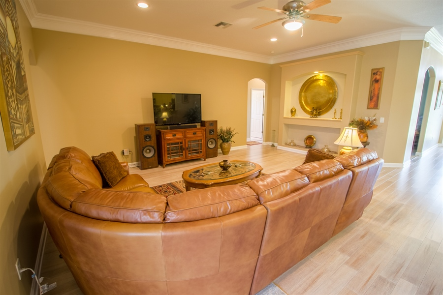 Real Estate Photography - 108 SW Lion Ln, Port Saint Lucie, FL, 34953 - Family Room
