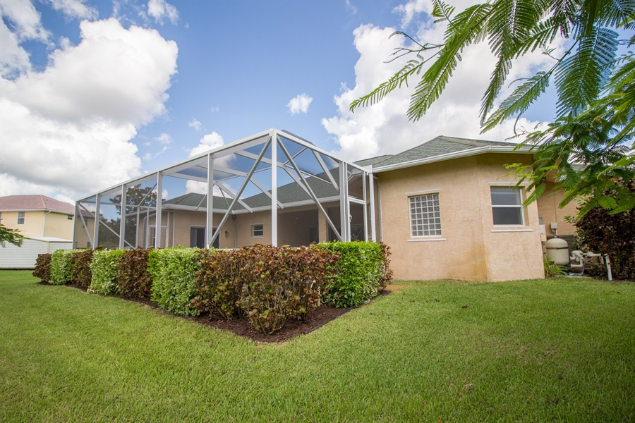 Real Estate Photography - 108 SW Lion Ln, Port Saint Lucie, FL, 34953 - Back of Home