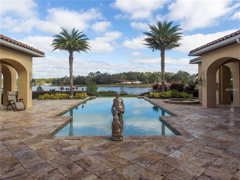 Real Estate Photography - 1965 Lake Markham Preserve Trl, Sanford, FL, 32771 - Infinity Pool