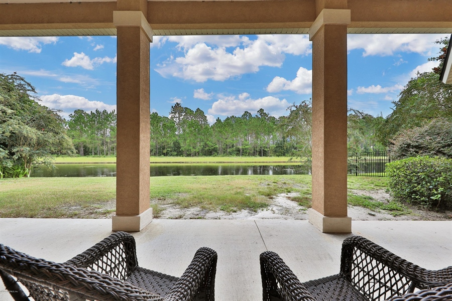 Real Estate Photography - 140 Saint Johns Forest Blvd, Saint Johns, FL, 32259 - LAKE TO PRESERVE VIEW FROM LANAI