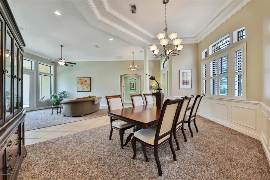 Real Estate Photography - 140 Saint Johns Forest Blvd, Saint Johns, FL, 32259 - OPEN LIVING AND DINING ROOMS