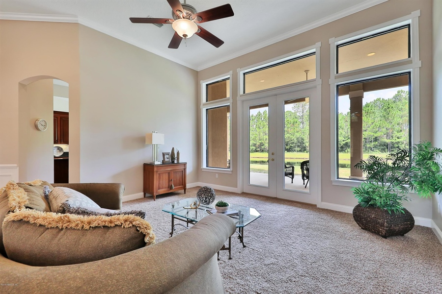 Real Estate Photography - 140 Saint Johns Forest Blvd, Saint Johns, FL, 32259 - LIVING ROOM WITH A VIEW