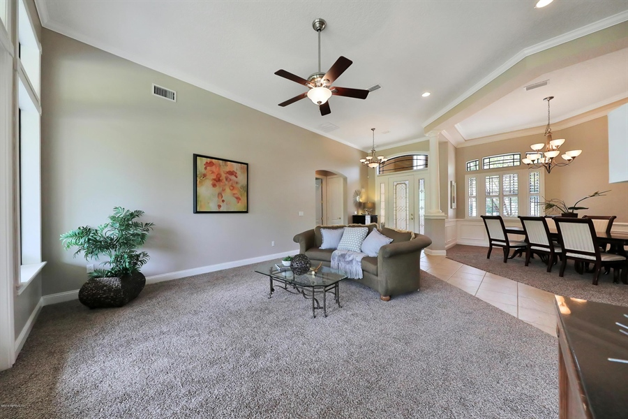 Real Estate Photography - 140 Saint Johns Forest Blvd, Saint Johns, FL, 32259 - LIVING ROOM & DINING AREA