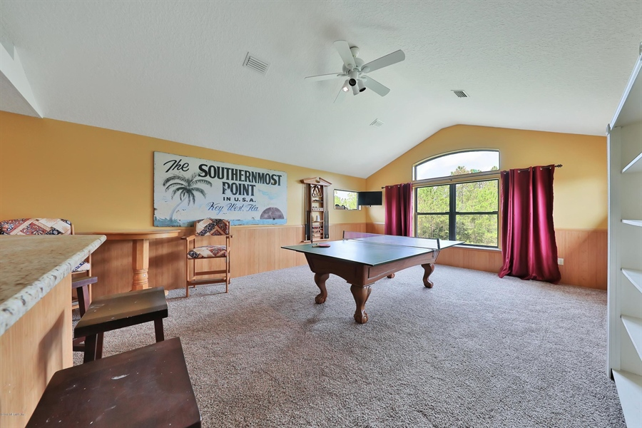 Real Estate Photography - 140 Saint Johns Forest Blvd, Saint Johns, FL, 32259 - GAME ROOM UPSTAIRS
