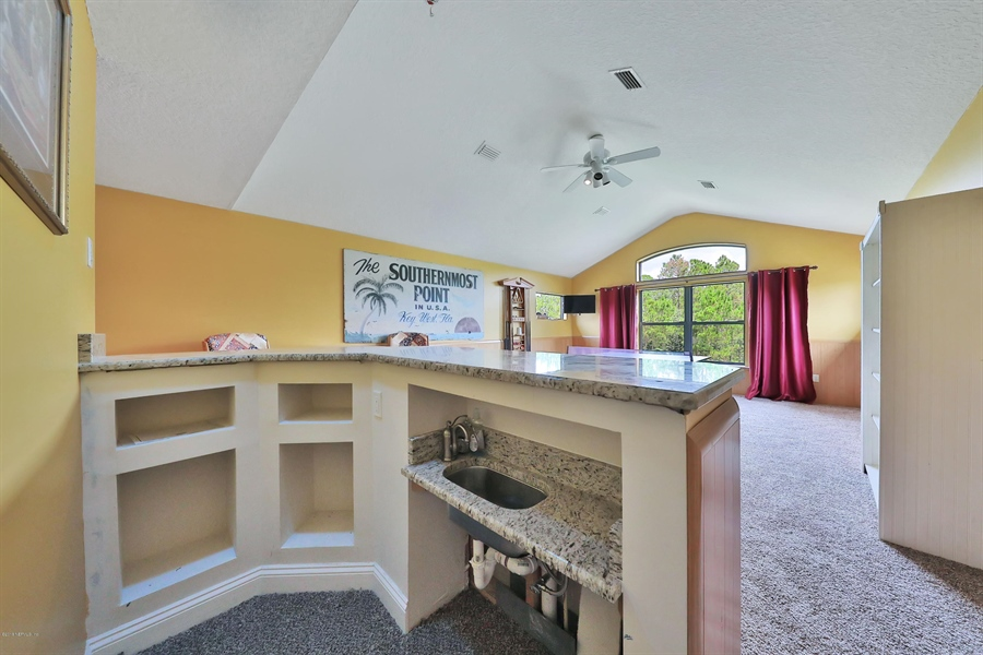 Real Estate Photography - 140 Saint Johns Forest Blvd, Saint Johns, FL, 32259 - GAME ROOM WETBAR