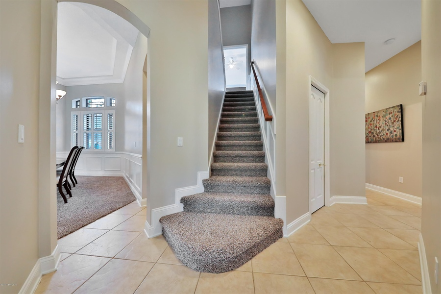Real Estate Photography - 140 Saint Johns Forest Blvd, Saint Johns, FL, 32259 - STAIRCASE