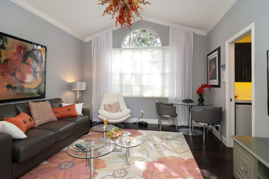 Real Estate Photography - 4285 SE Frazier Court, Stuart, FL, 34997 - Guest House Living Room