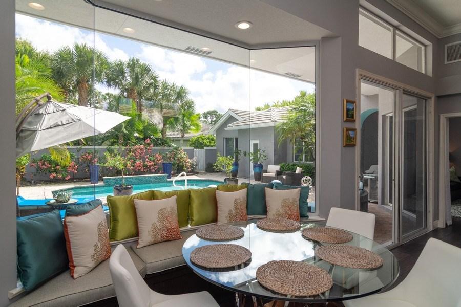 Real Estate Photography - 4285 SE Frazier Court, Stuart, FL, 34997 - Breakfast Nook