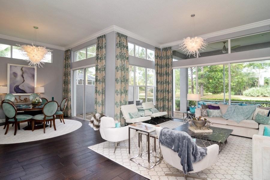 Real Estate Photography - 4285 SE Frazier Court, Stuart, FL, 34997 - Living Room / Dining Room