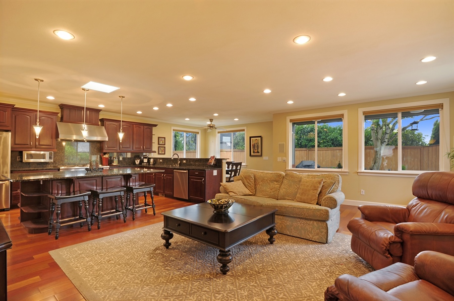 Real Estate Photography - 4470 142nd Ave SE, Bellevue, WA, 98006 - Family Room / Kitchen