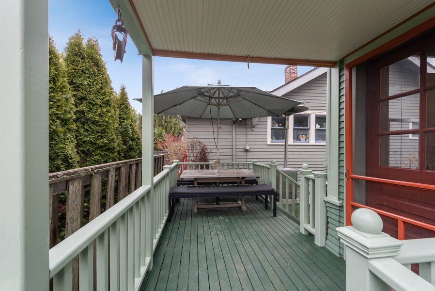 Real Estate Photography - 2602 9th Ave W, Seattle, WA, 98119 - Rear Deck
