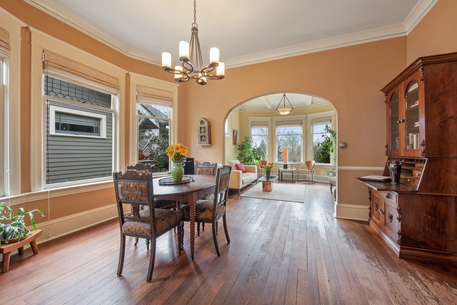 Real Estate Photography - 2602 9th Ave W, Seattle, WA, 98119 - Living Room / Dining Room